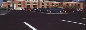 Camden Yards fresh parking lot