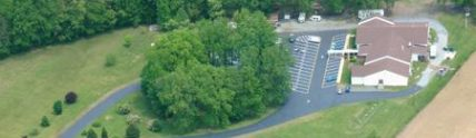 Moose Lodge parking lot after