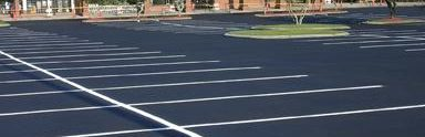 new pavement parking lot at Regency Plaza