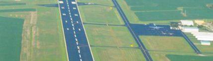 new pavement runway at airport