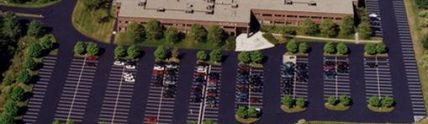 aerial view of Xyplex parking lot after