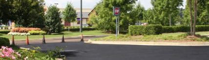 new pavement entrance at East Towne Shopping Center