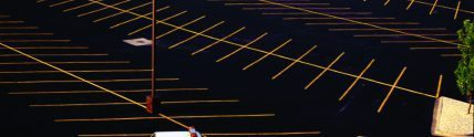 Neiman Marcus freshly paved parking lot