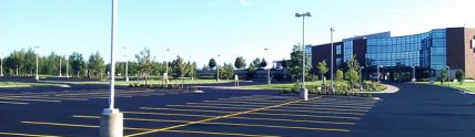 Saint Clare's Hospital fresh paved parking lot