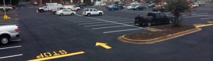Ingel's Shopping Center parking lot after