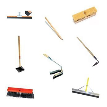 multiple brushes and squeegees