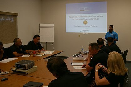 group of people in training at GemSeal University