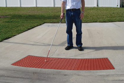red detectable warning mat