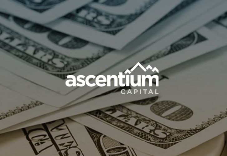 ascentium capital branding with dollar bills