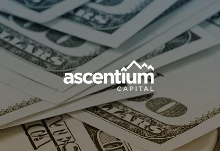 ascentium capital branding with dollar bills